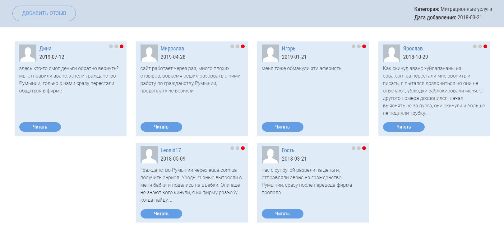 Отзывы о euua.com.ua на glav-otzyv.ru