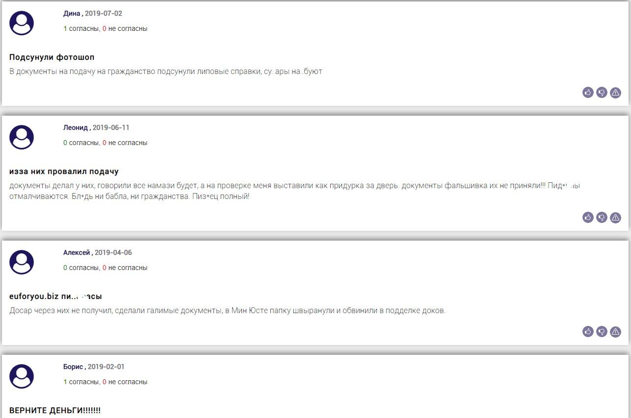 Отзывы о euforyou.biz на bizlst.com